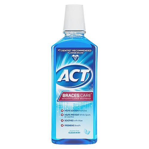 ACT Braces Care Anticavity Mouthwash (18oz)