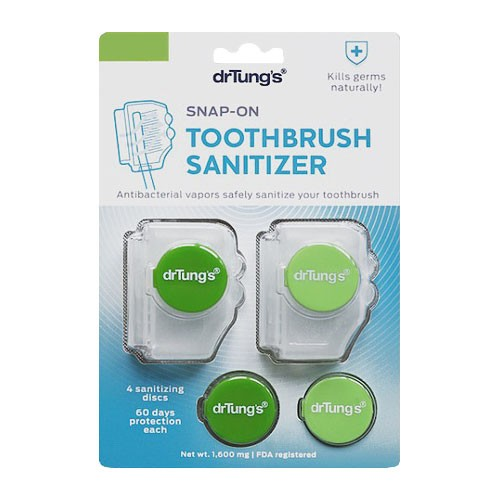 DrTungs Snap-On Toothbrush Protector (2ct)