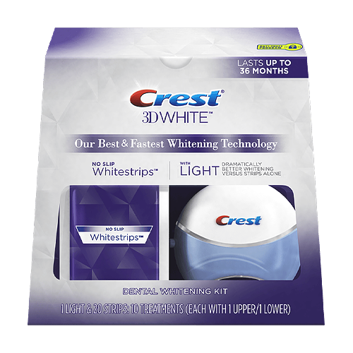 Crest 3d White Whitestrips And Light Teeth Whitening Kit