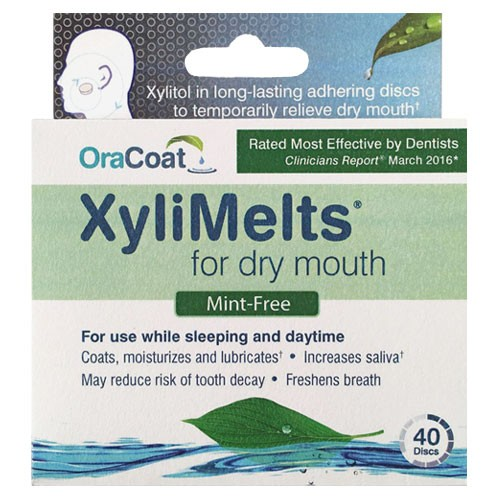 OraCoat XyliMelts for Dry Mouth - Mint Free (40ct)