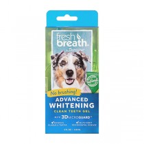 TropiClean Fresh Breath Clean Teeth Advanced Whitening Gel for Dogs (4oz)