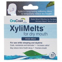 OraCoat XyliMelts for Dry Mouth - Regular Mint (40ct)