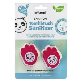 DrTungs Kids Snap-On Toothbrush Protector (2ct)