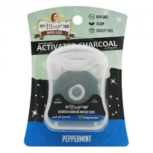 My Magic Mud Activated Charcoal and Xylitol Dental Floss (54.6yd)