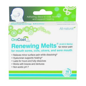 OraCoat Renewing Melts (H-B12 Melts) for Mouth Sores (16ct)