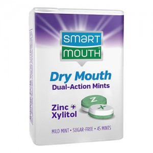 SmartMouth Dry Mouth Moisturizing Dual Action Mints (45ct)